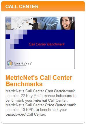 MetricNet's Call Center Benchmarks