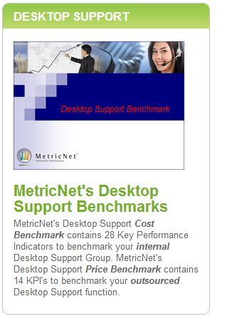 MetricNet's Desktop Support Benchmarks