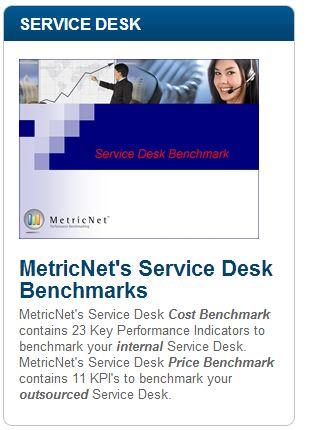 MetricNet's Service Desk Benchmarks