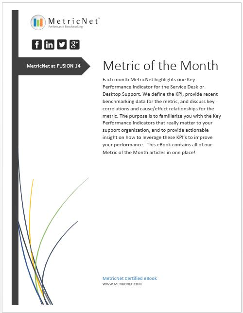 FUSION 14 eBook from MetricNet, the leading provider of IT Service and Support benchmarks worldwide