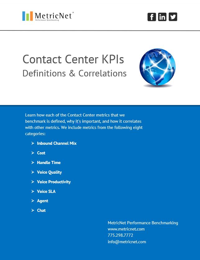 Call Center Metrics | An Introduction eBook from MetricNet